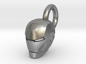 Ironman Helmet Charm in Natural Silver