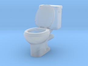 Toilet 01. 1:24 Scale in Smooth Fine Detail Plastic