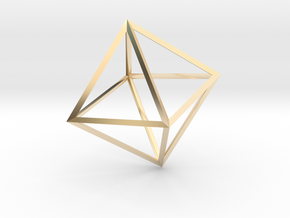 Math Art - Double Tetrahedron  Pendant in 14k Gold Plated Brass