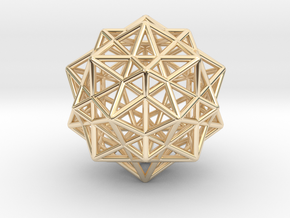 Icosahedron with Star Faced Dodecahedron in 14K Yellow Gold