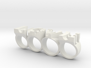 Luvring in White Natural Versatile Plastic