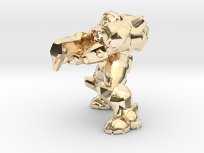 1/60 Marine Shooting Pose in 14K Yellow Gold