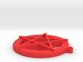 Satanxmas Small in Red Processed Versatile Plastic