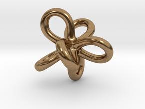 Math Art - Entangled Infinities Pendant in Natural Brass