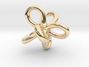 Math Art - Entangled Infinities Pendant in 14k Gold Plated Brass