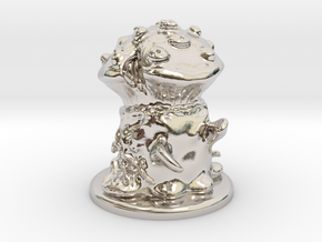 Fungus Monster in Rhodium Plated Brass