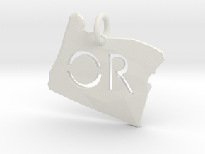 Oregon State Pendant in White Natural Versatile Plastic
