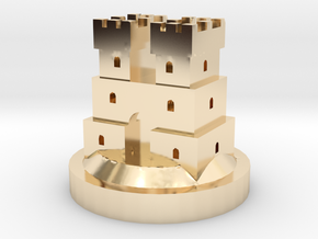 Game of Thrones Risk Piece Single - Frey in 14k Gold Plated Brass