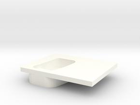 Door handle old model right rear D110 2/2 in White Processed Versatile Plastic
