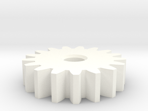 GearModule1.0 17teeth 20deg Pressure Angle NoHub D in White Strong & Flexible Polished