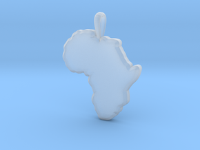 Mapa Mudo de Africa in Smooth Fine Detail Plastic