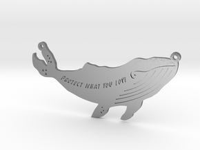 Whale pendant in Polished Silver
