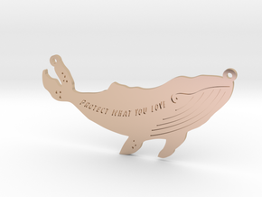 Whale pendant in 14k Rose Gold