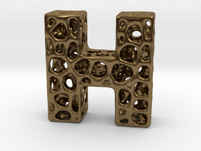 Voronoi Letter ( alphabet ) H in Natural Bronze