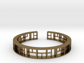 WINDOW Bracelet Medium Size D=60mm in Natural Bronze: Medium