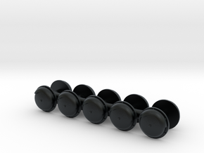 CNW Gong Bells (N) in Black Hi-Def Acrylate