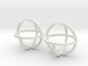 Circles Earring in White Natural Versatile Plastic