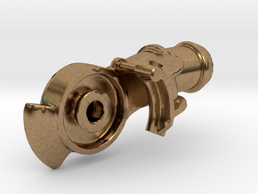 """Air Brake Gladhand - 2.5"""" scale - REV, LIVE STEAM in Natural Brass"""