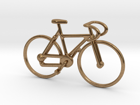 Racing Bicycle Jewel in Natural Brass