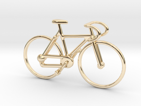 Racing Bicycle Jewel in 14k Gold Plated Brass