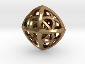 Octaplex Pendant in Natural Brass