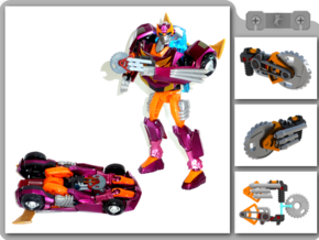 Buzzsaw for Animated Rodimus in White Strong & Flexible