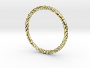 Twist Bracelet 65 in 18k Gold Plated Brass