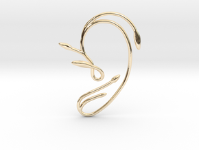 Ear Cuff of Belle (Left Ear) in 14k Gold Plated Brass
