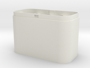 Battery Case SIZE AA  in White Natural Versatile Plastic