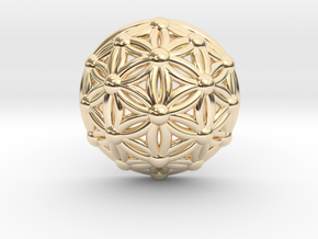 Flower Of Life Dome in 14k Gold Plated Brass