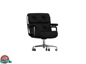 Miniature Eames Executive Chair - Charles and Ray  in White Strong & Flexible: 1:24