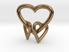 Heart Pendant in Natural Brass