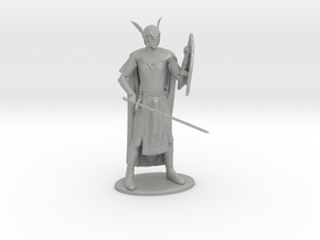 High Elf Miniature in Raw Aluminum: 1:60.96