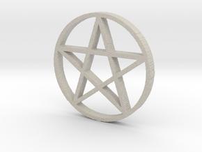 Pentagram (Pentacle) in Natural Sandstone