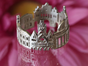Boston Cityscape - Skyline Ring in Polished Silver