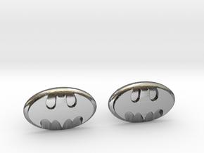 Batman Cufflinks in Polished Silver