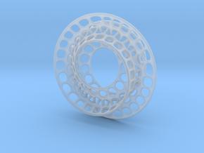 Quarter twist Möbius strip (color) in Smooth Fine Detail Plastic
