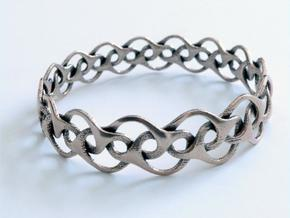 Bracelet I Medium in Polished Bronzed Silver Steel