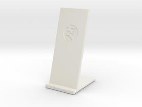 Pose Téléphone in White Natural Versatile Plastic