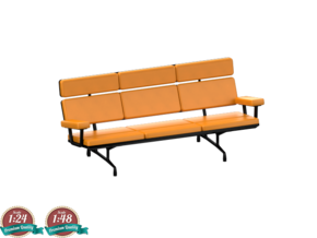 Miniature Eames Sofa - Charles & Ray Eames in White Natural Versatile Plastic: 1:24
