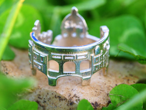 Florence Cityscape - Statement Skyline Ring in Polished Silver
