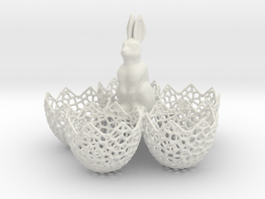 Easter Eggs Holder in White Natural Versatile Plastic