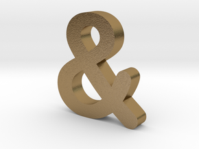 Ampersand in Polished Gold Steel