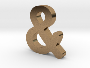Ampersand in Natural Brass