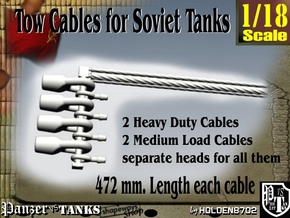 1-18 Soviet Tank Tow Cables Set1 in White Natural Versatile Plastic
