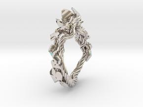 Garden Ring in Platinum: 6 / 51.5