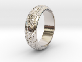 Sharon F. - Ring in Rhodium Plated Brass: 6 / 51.5
