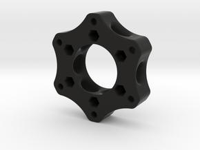 70mmTo50mm-20mm-NutsBothSides in Black Natural Versatile Plastic
