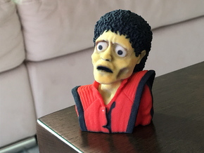 Michael Jackson Thriller Caricature Bust in Full Color Sandstone