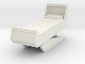 Sickbay Bed (Star Trek Classic), 1/30 in White Natural Versatile Plastic